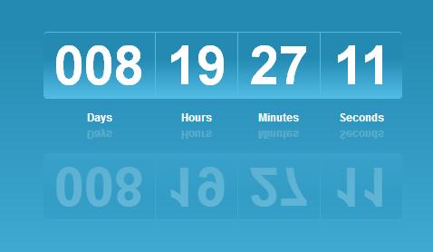 Code đếm ngược thời gian đẹp với CSS3 + Jquery