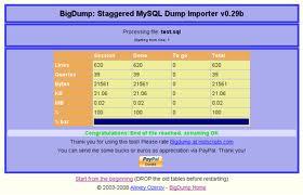 Hướng dẫn Import big database bằng bigdump.php