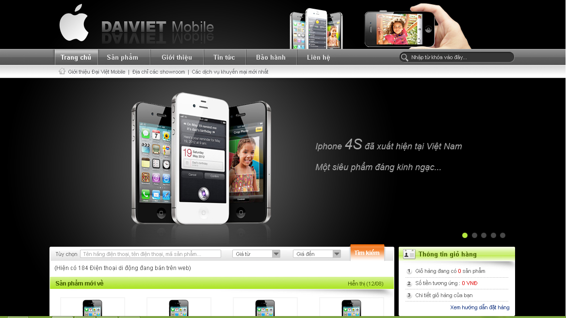 Template website bán điện thoại đẹp