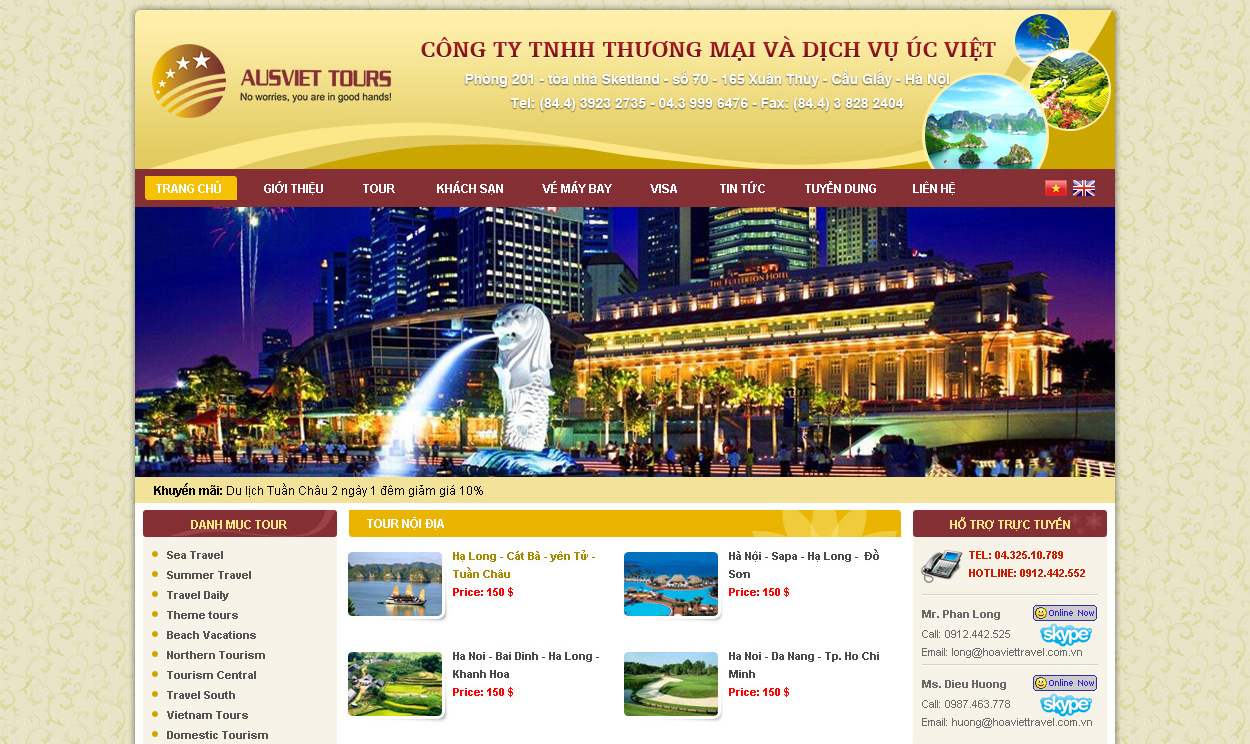Template website du lịch đẹp