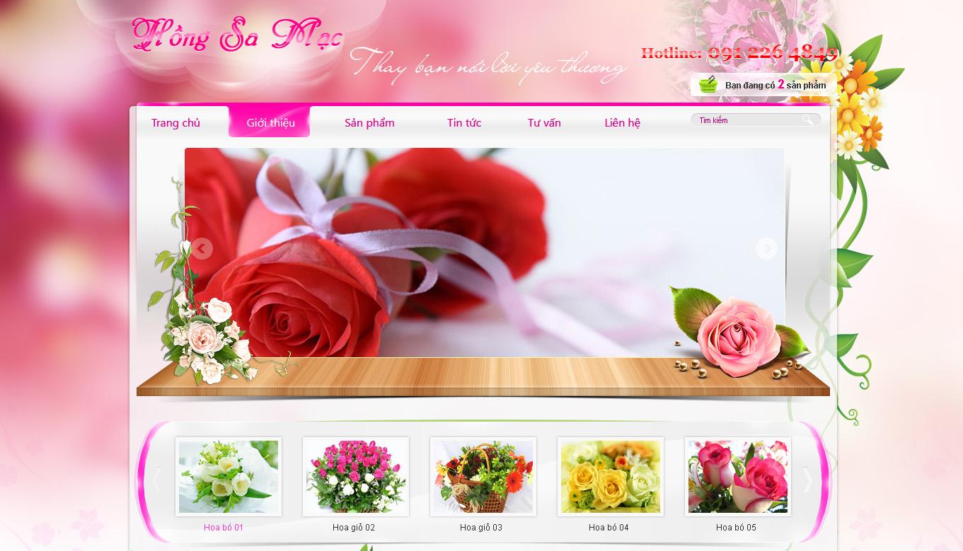 Template website bán hoa tươi online
