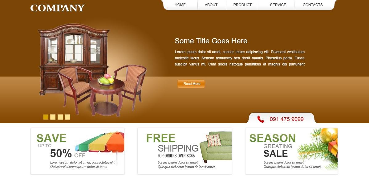 Giao diện website nội thất đẹp