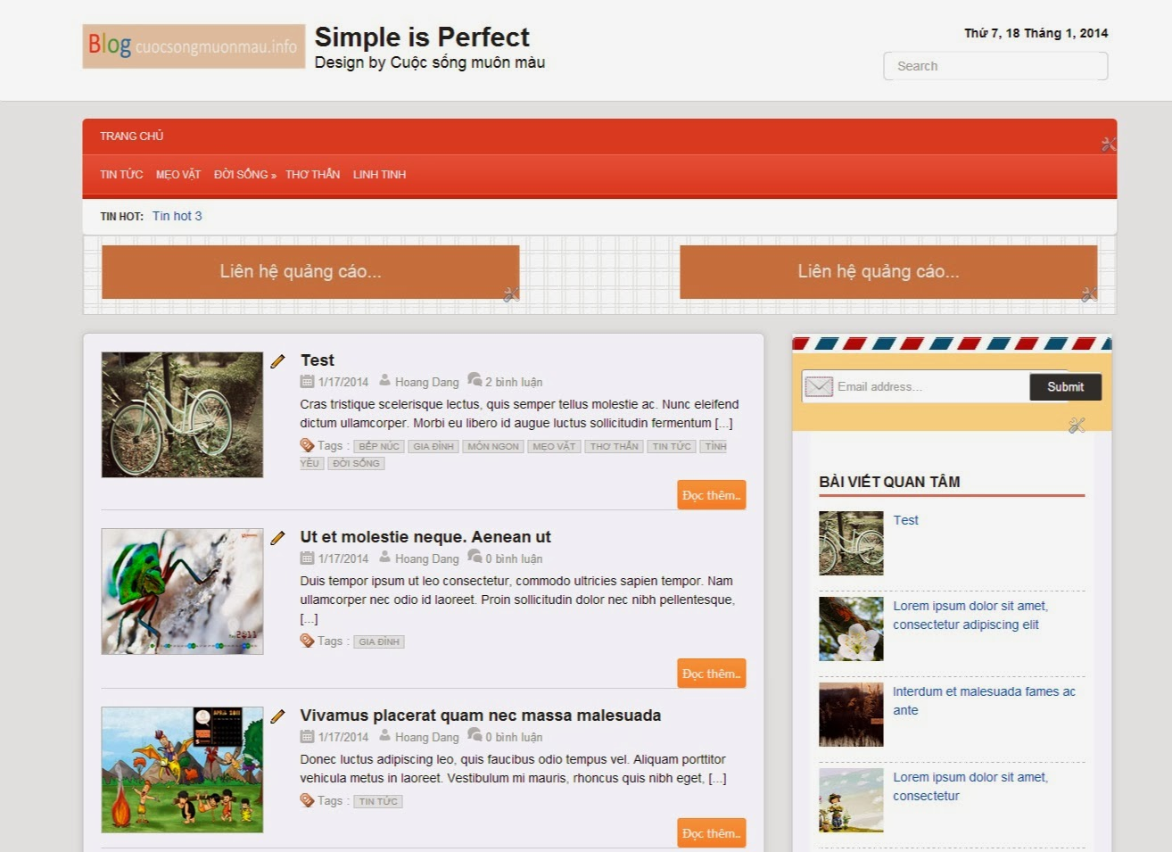 Template blogspot Responsive chuẩn Seo